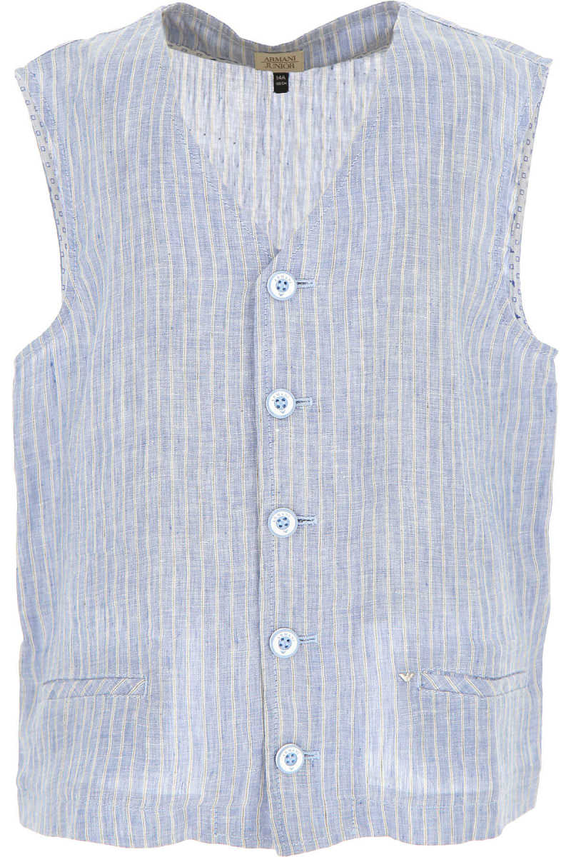 Emporio Armani Kids Shirts for Boys On Sale in Outlet Light Blue SE - GOOFASH