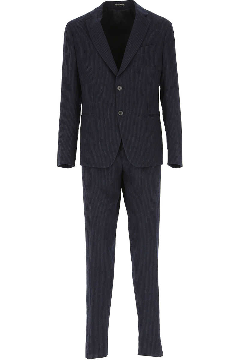 Emporio Armani Men's Suit Navy Blue SE - GOOFASH