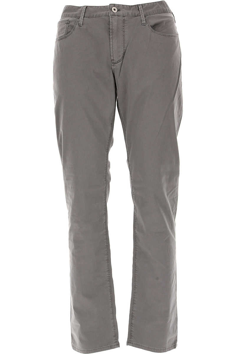 Emporio Armani Pants for Men in Outlet Charcoal Grey USA - GOOFASH