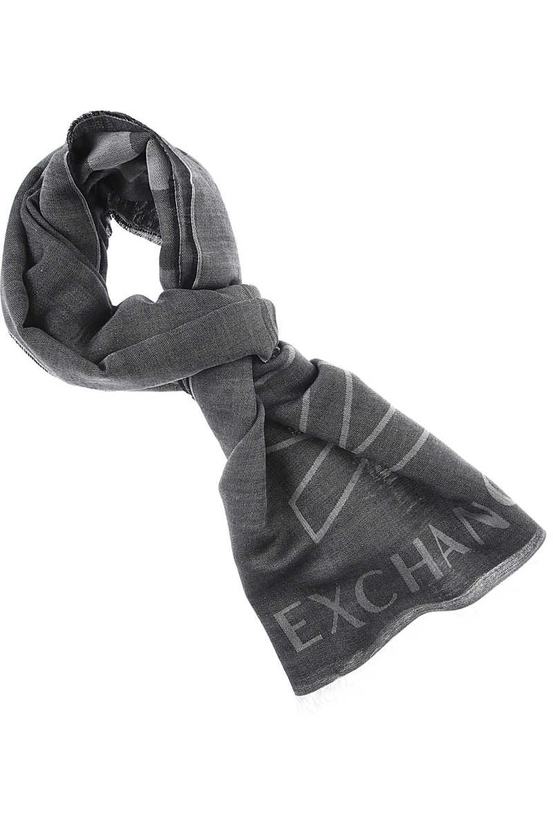 Emporio Armani Scarf for Men Black SE - GOOFASH