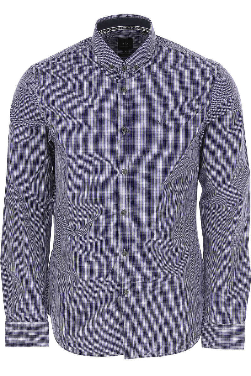 Emporio Armani Shirt for Men Blue USA - GOOFASH