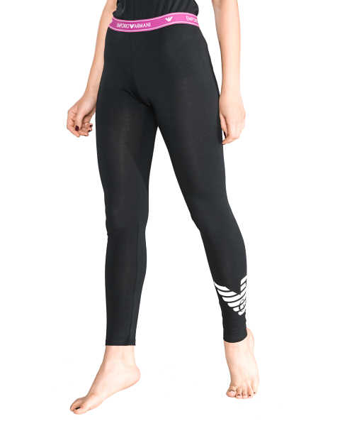 Emporio Armani Sleeping leggings Black UK - GOOFASH
