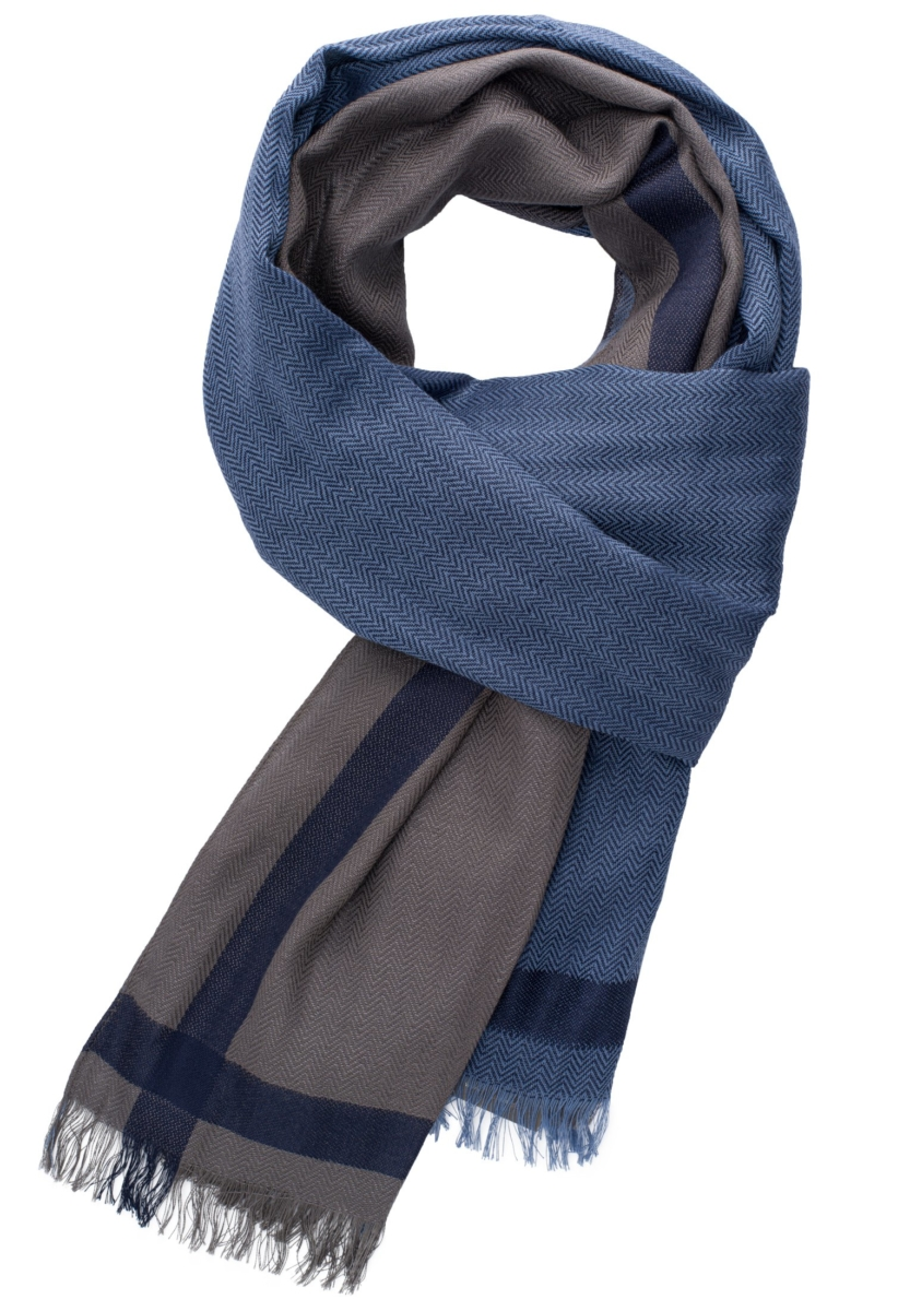Eterna Scarf Blue/Brown Patterned UK - GOOFASH