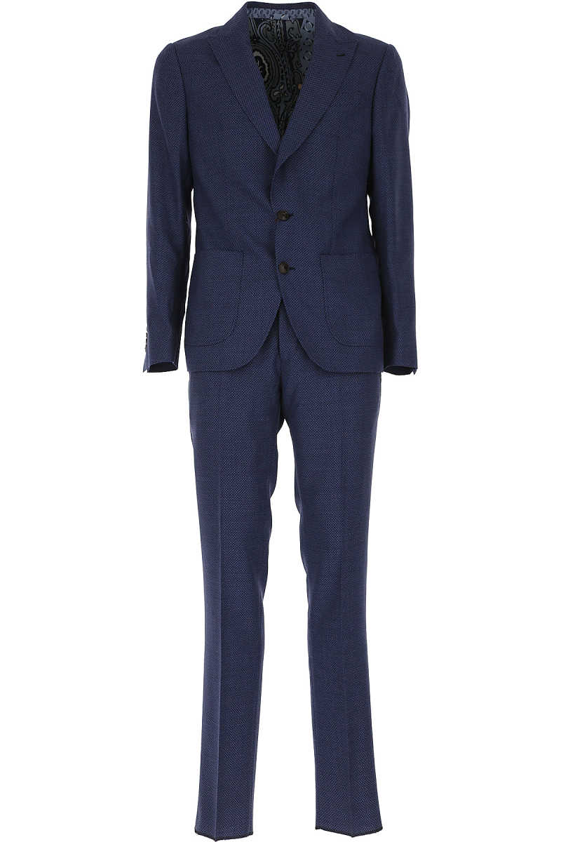 Etro Men's Suit On Sale Bluette SE - GOOFASH