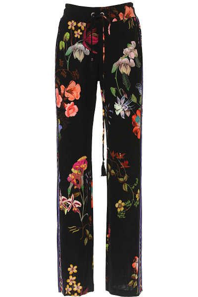 Etro Pants for Women Black USA - GOOFASH