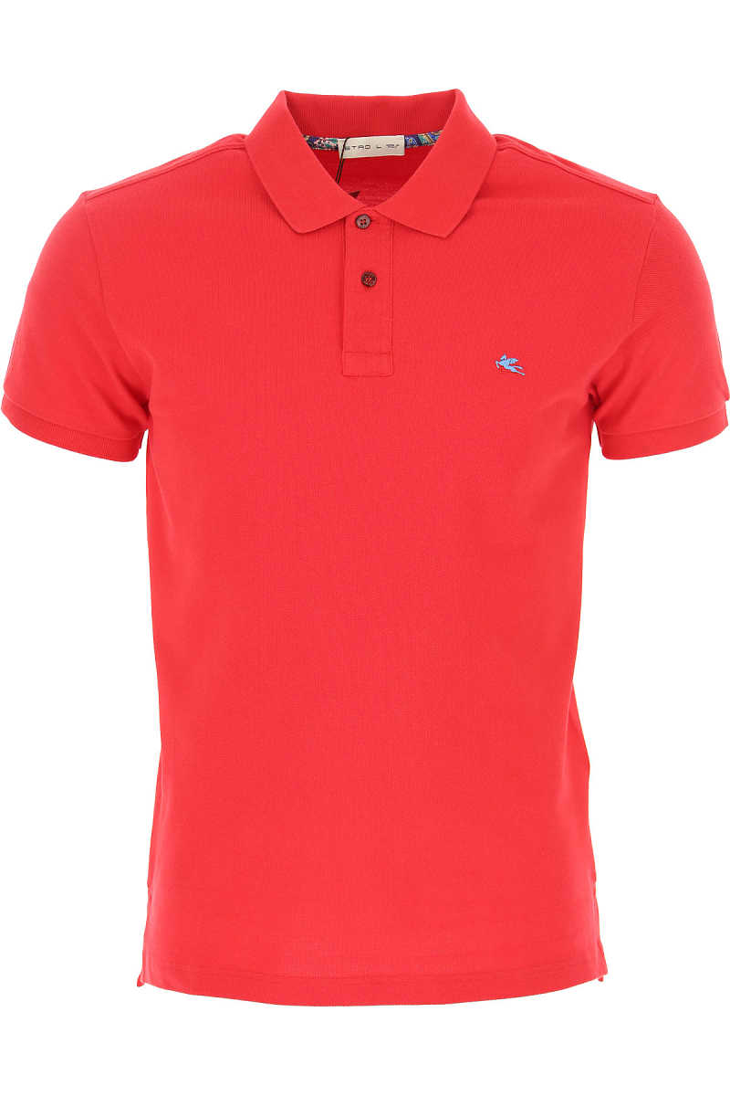 Etro Polo Shirt for Men Red SE - GOOFASH