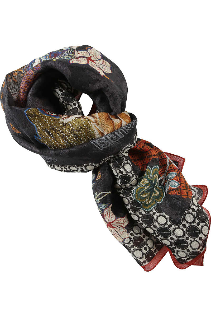 Etro Scarf for Men Anthracite Grey USA - GOOFASH
