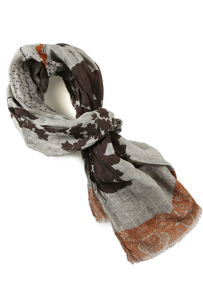 Etro Scarf for Men On Sale Grey SE - GOOFASH