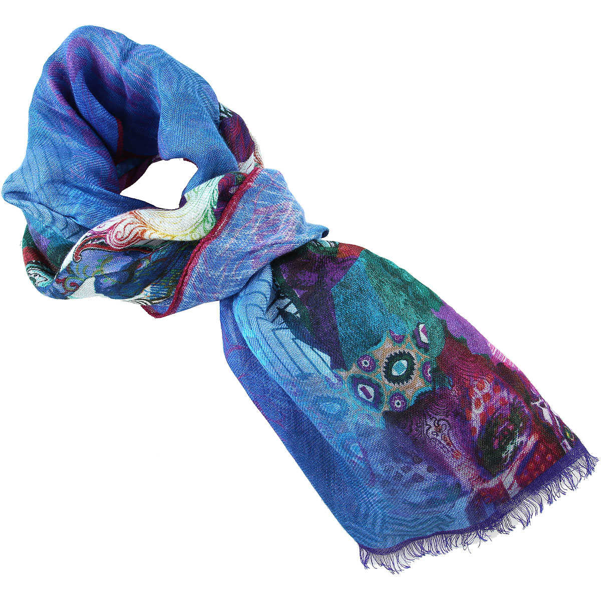 Etro Scarf for Women On Sale Cerulean Blue SE - GOOFASH