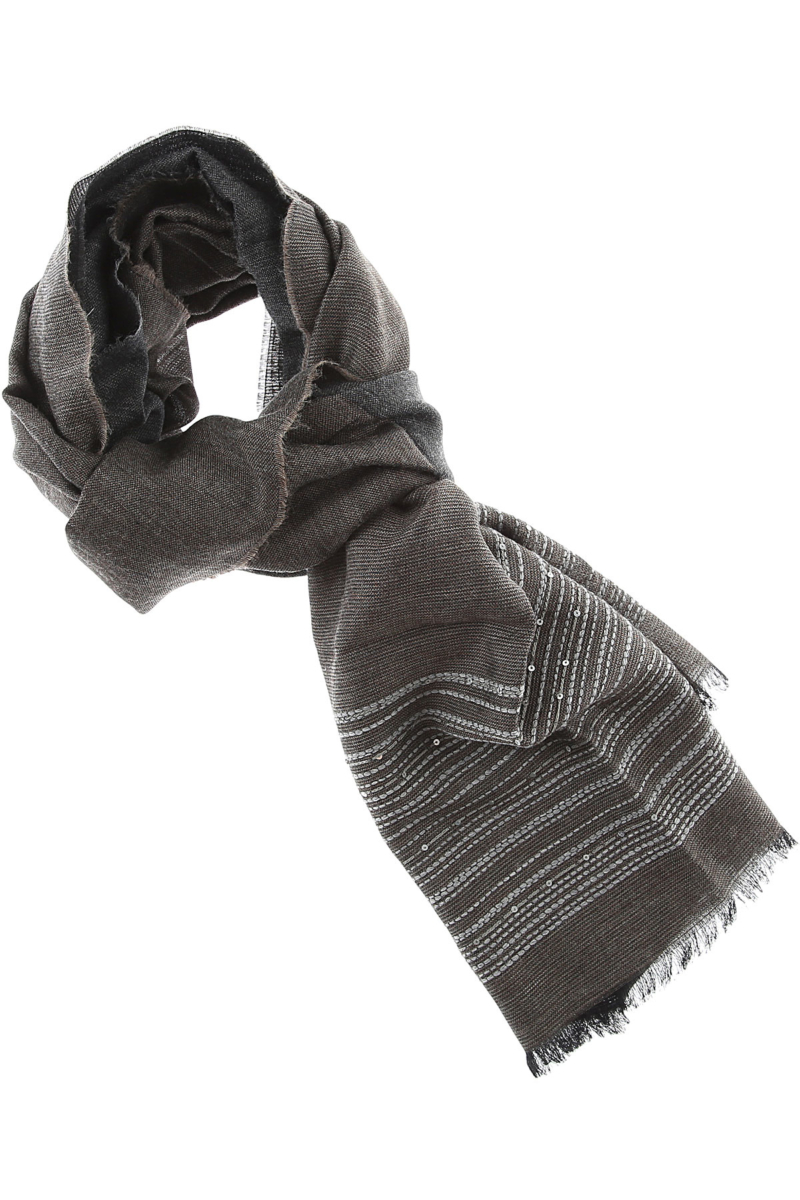 Fabiana Filippi Scarf for Women On Sale Anthracite SE - GOOFASH