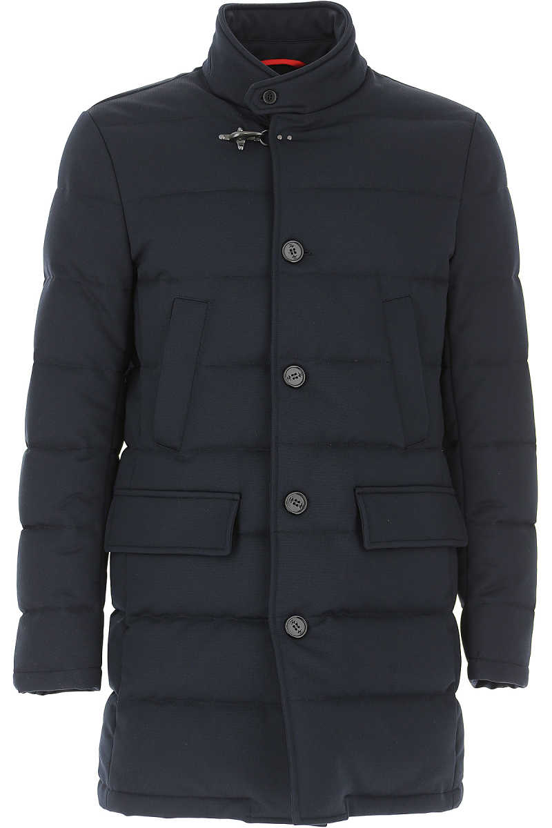 Fay Men's Coat in Outlet Navy Blue USA - GOOFASH