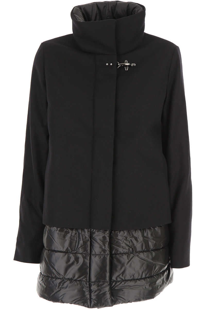 Fay Women's Coat in Outlet Black USA - GOOFASH