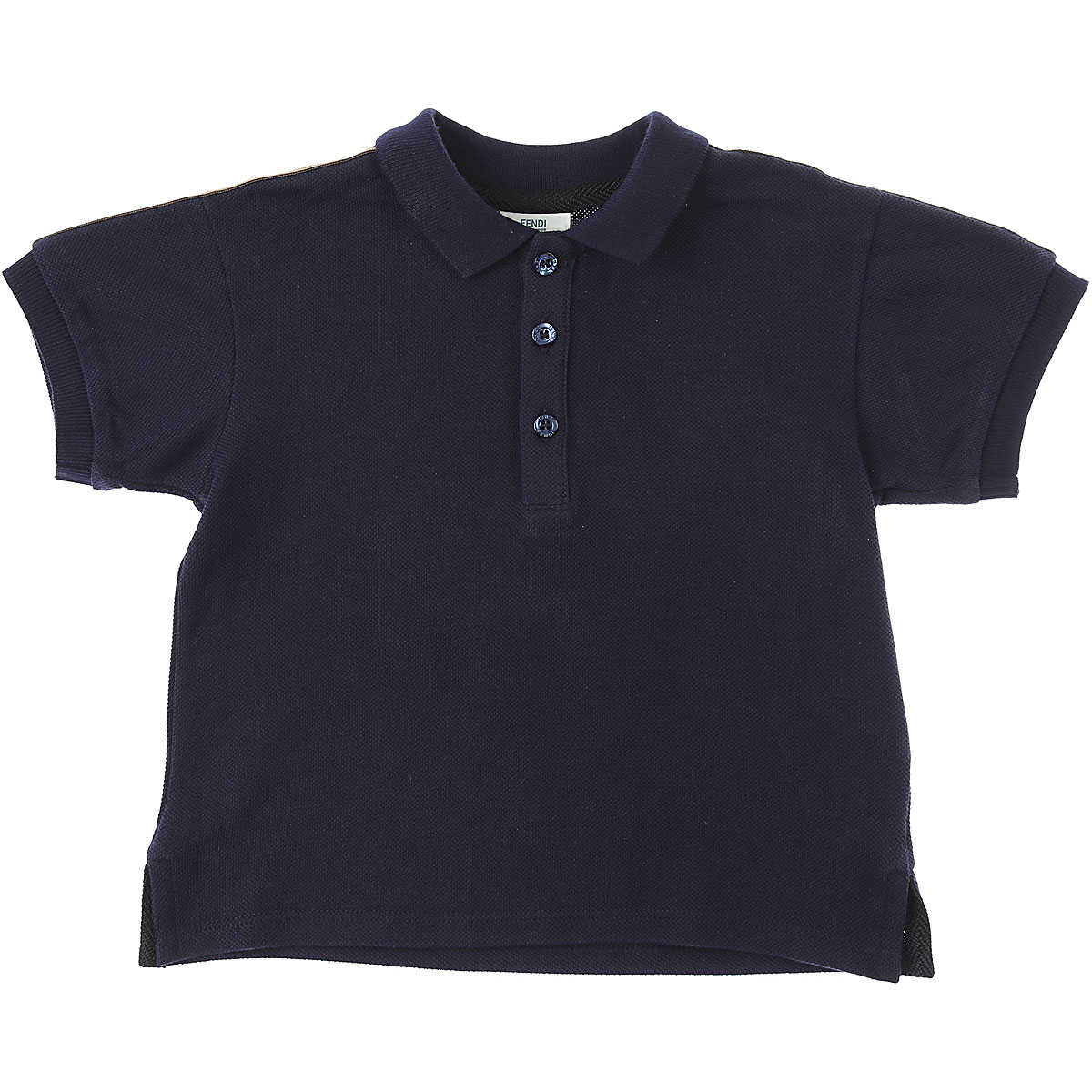 Fendi Baby Polo Shirt for Boys Blue USA - GOOFASH