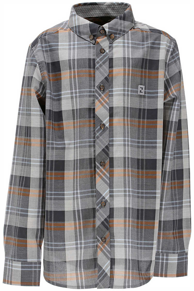 Fendi Kids Shirts for Boys in Outlet Grey USA - GOOFASH