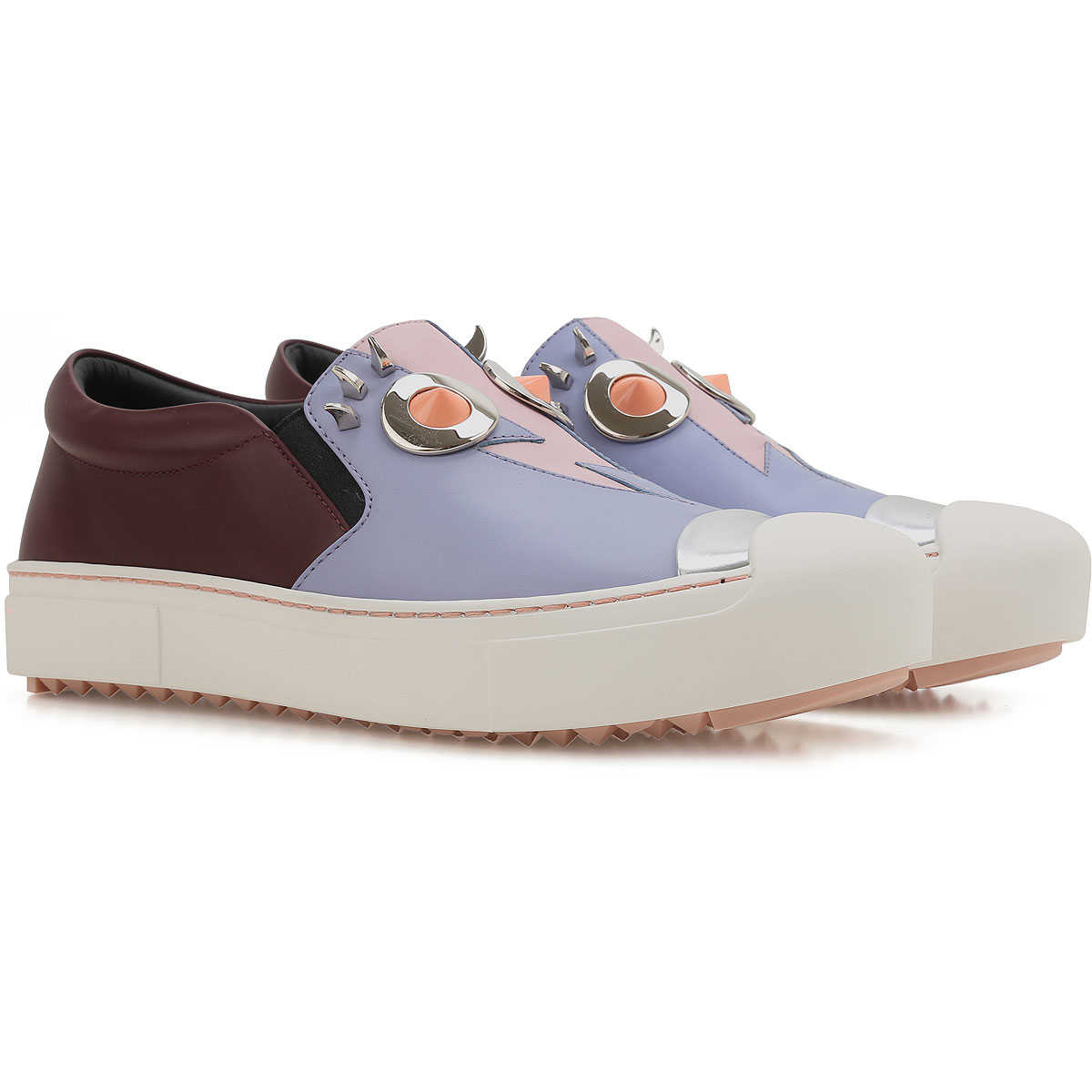 Fendi Loafers for Women in Outlet Lavande USA - GOOFASH
