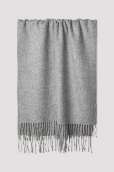 Filippa K Cashmere Blend Scarf Light Grey Melange UK - GOOFASH