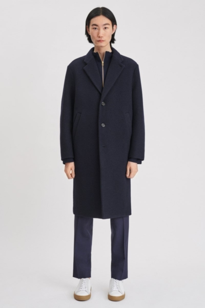 Filippa K Lyon Bonded Coat Dark Navy