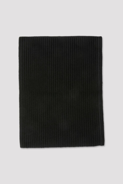 Filippa K Rib tube scarf Black UK - GOOFASH