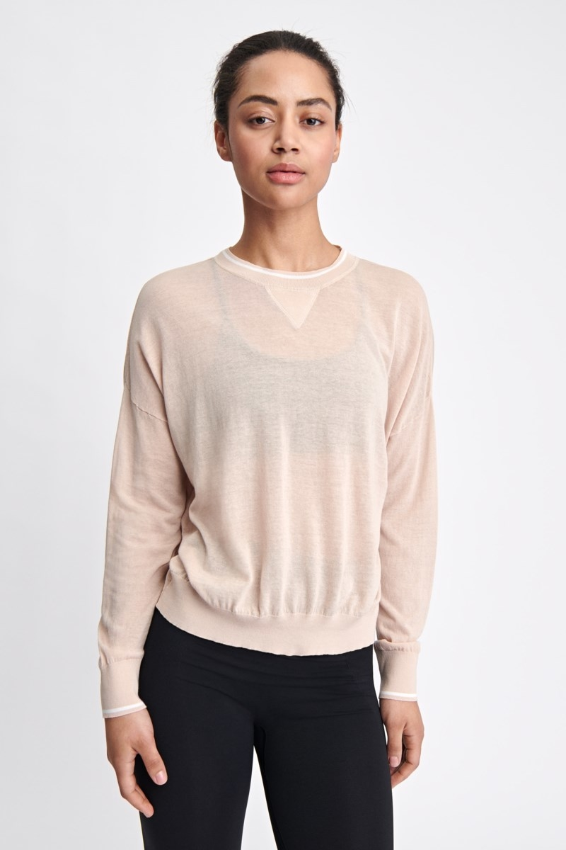 Filippa K Sheer Knit Sweater Plaster