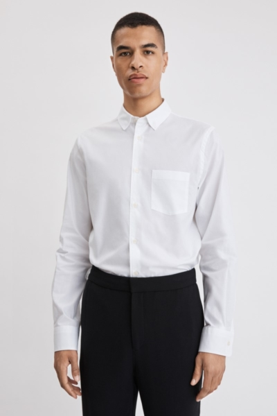 Filippa K Tim Light Oxford Shirt White SE - GOOFASH