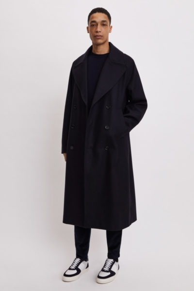Filippa K Vigo Coat Blue Black UK - GOOFASH