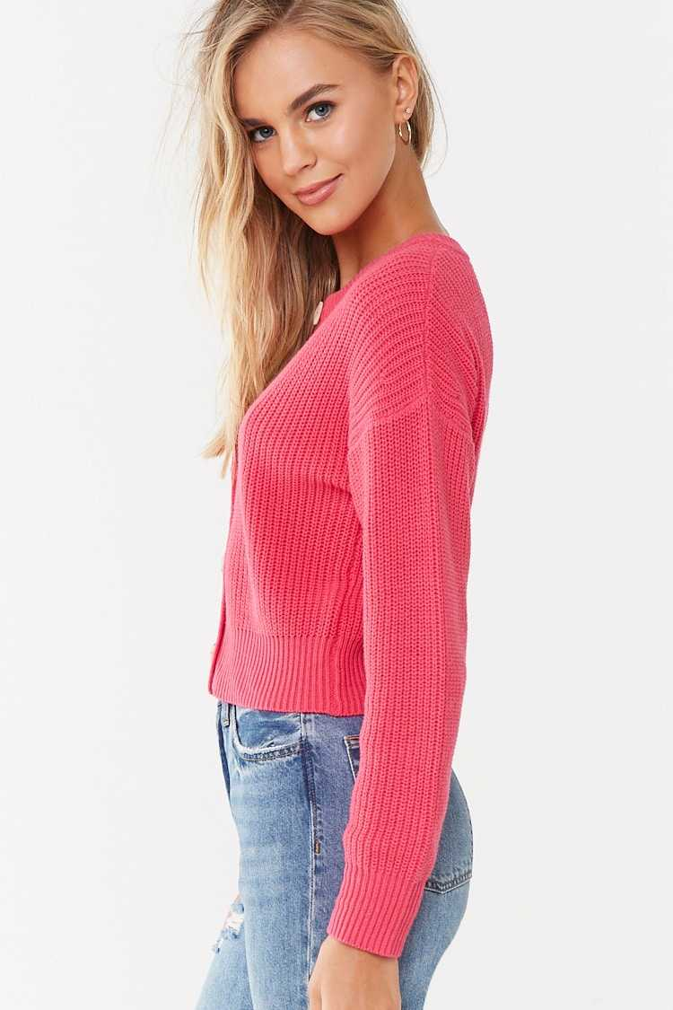 Forever 21 Ribbed Button-Front Cardigan