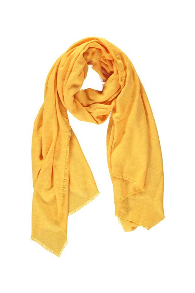 Forever21Frayed Trim Oblong Scarf - Mustard UK - GOOFASH