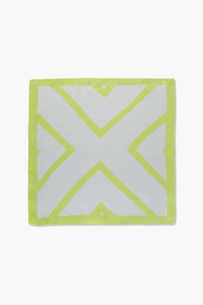 Forever21Geo Square Scarf - Lime/White UK - GOOFASH