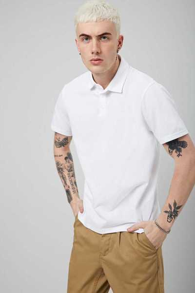Forever21Men's Vented Polo Shirt - White UK - GOOFASH