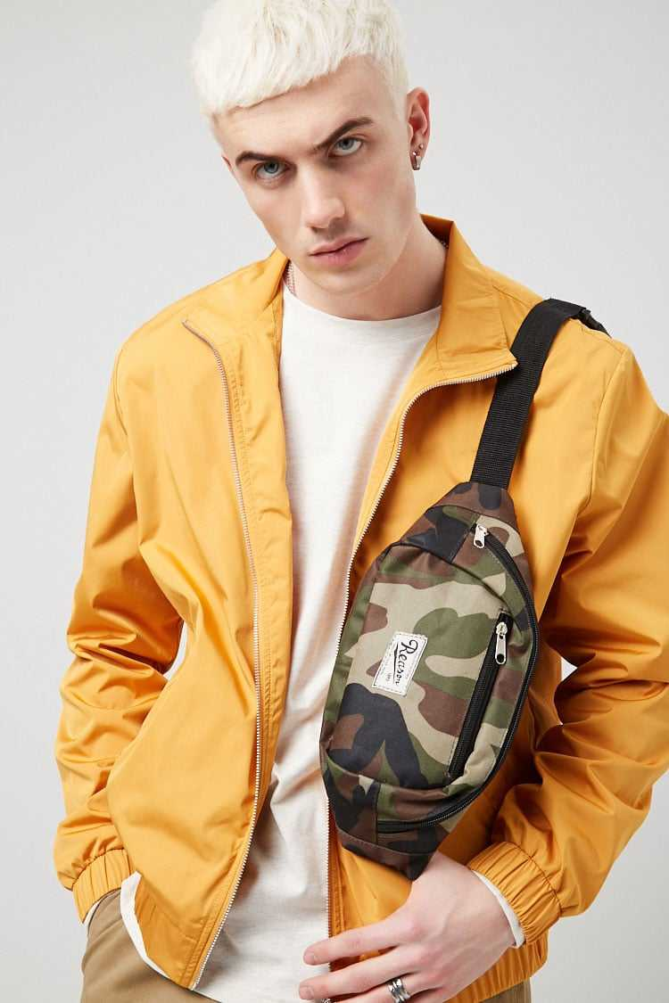 Forever21Men's Zip-Front Jacket - Yellow UK - GOOFASH