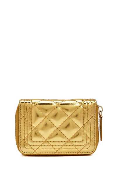 Forever21Quilted Mini Wallet - Gold UK - GOOFASH