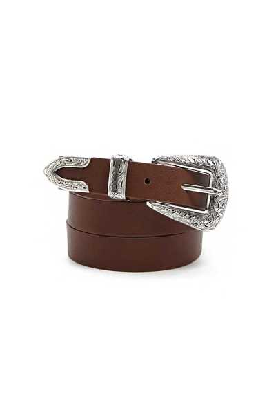Forever21Western Faux Leather Belt - Brown UK - GOOFASH