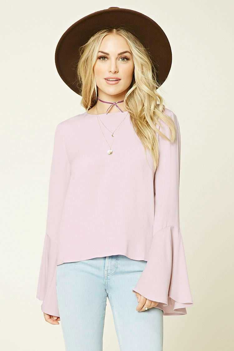 Forever21Women's Contemporary Tie-Back Top - Dusty Pink UK - GOOFASH