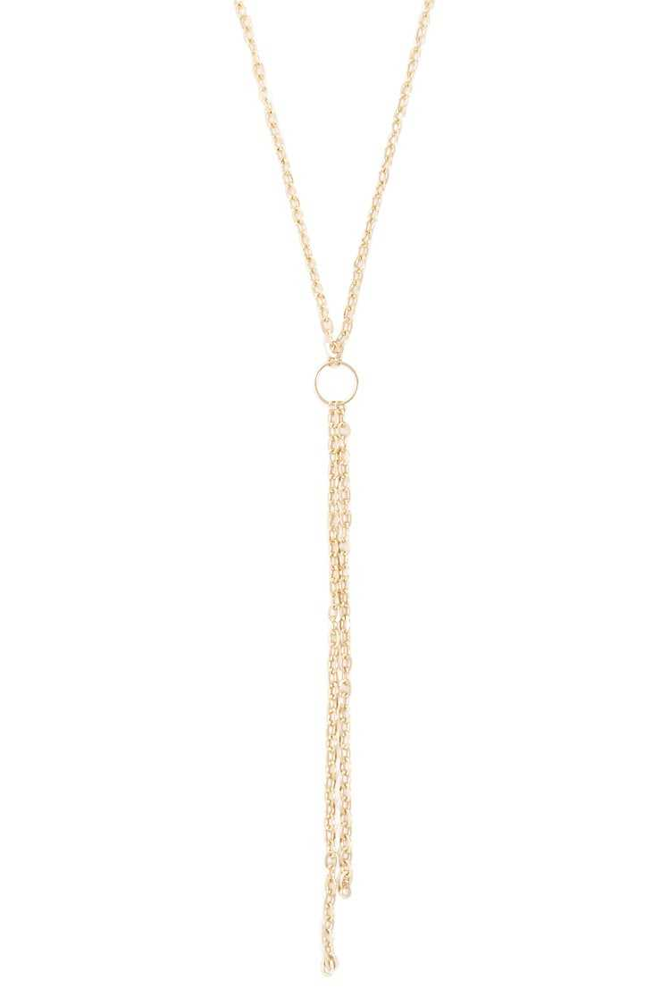 Forever21Women's Drop Chain Necklace - Gold UK - GOOFASH