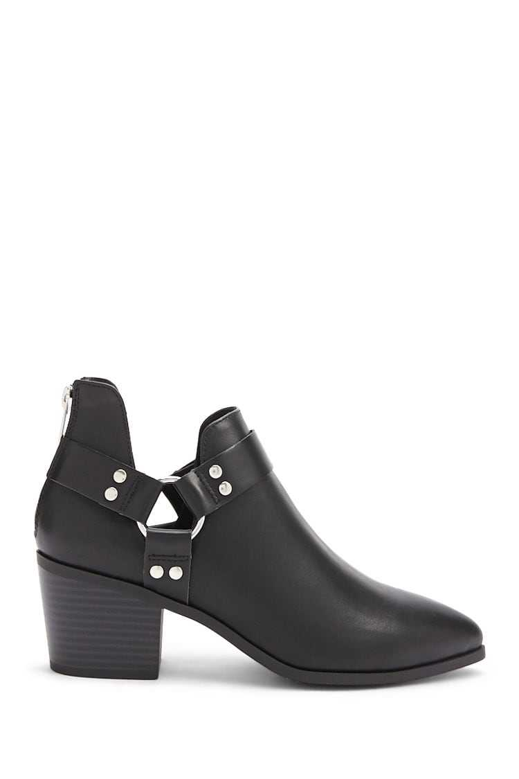 Forever21Women's Faux Leather Ankle Boots - Black UK - GOOFASH