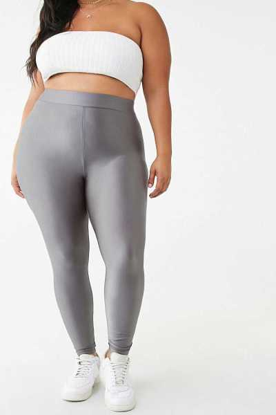 Forever21Women's Plus Size Leggings - Charcoal UK - GOOFASH