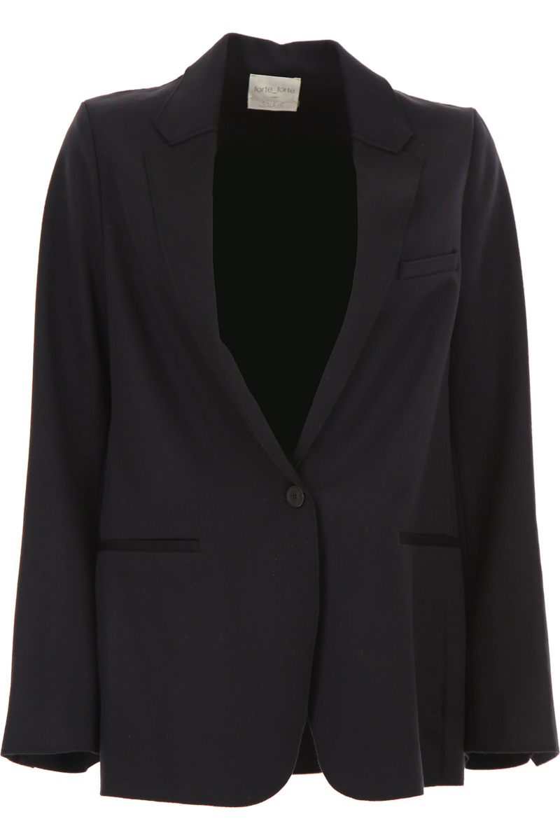 Forte Forte Blazer for Women Dark Midnight Blue SE - GOOFASH