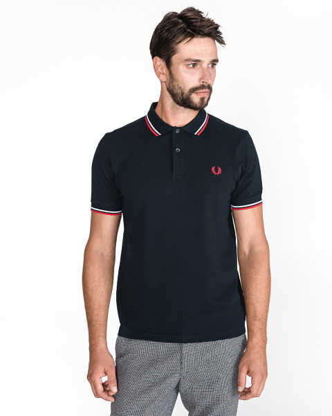Fred Perry Polo Shirt Blue UK - GOOFASH