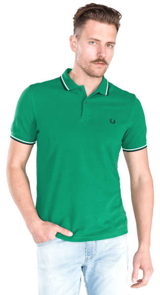 Fred Perry Polo Shirt Green UK - GOOFASH
