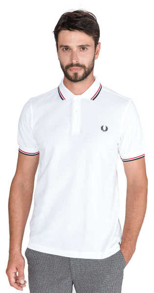 Fred Perry Polo Shirt White UK - GOOFASH