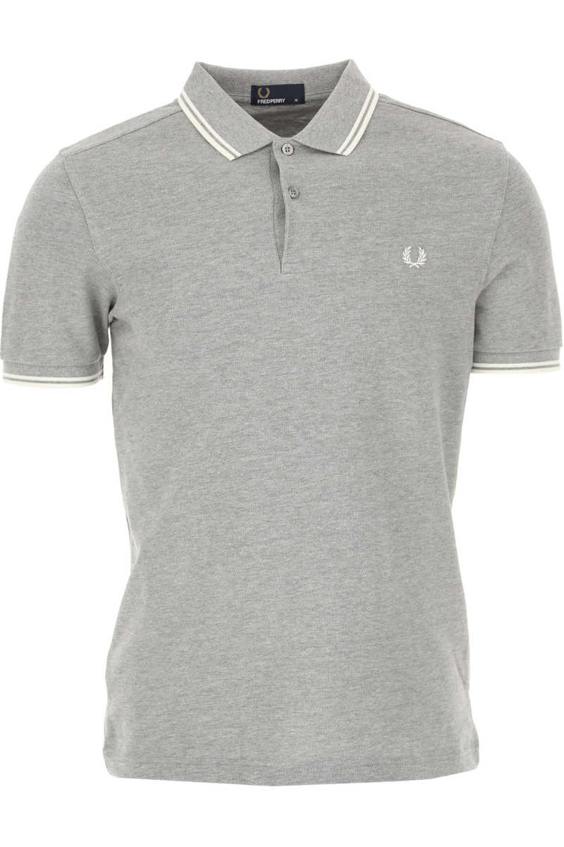 Fred Perry Polo Shirt for Men Grey USA - GOOFASH