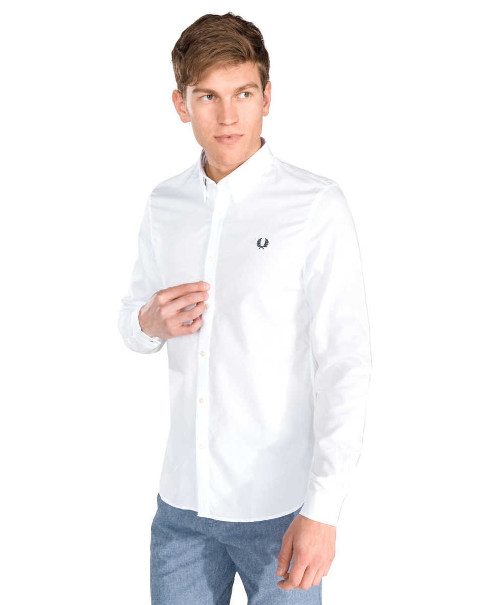 Fred Perry Shirt White UK - GOOFASH