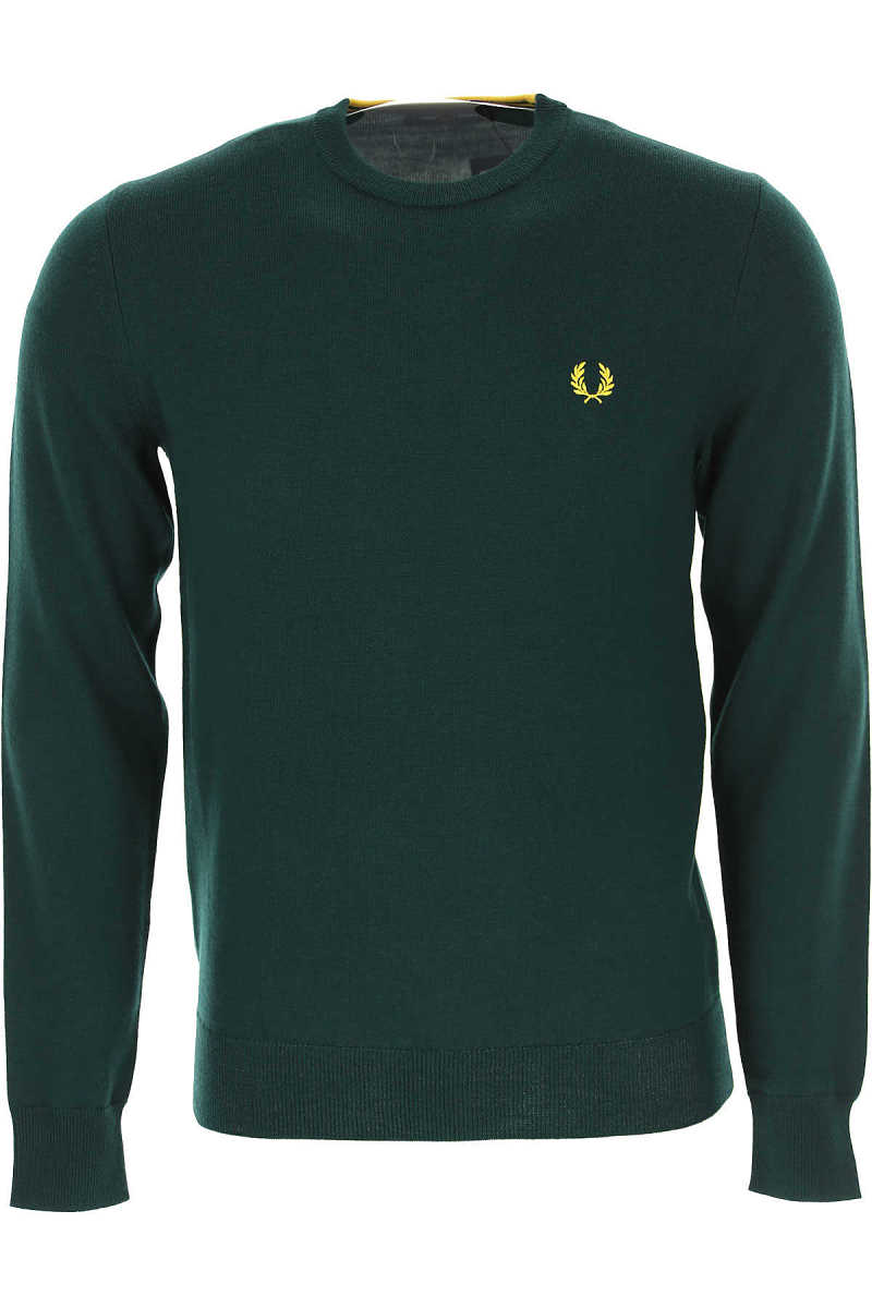 Fred Perry Sweater for Men Jumper evergreen SE - GOOFASH