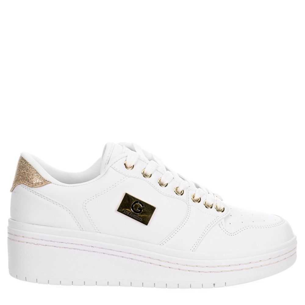 G By Guess Womens Rigster Sneakers White USA - GOOFASH