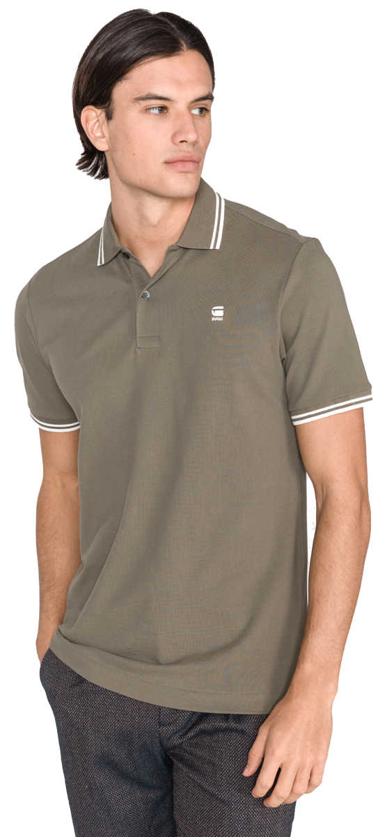 G-Star RAW Dunda Polo Shirt Green UK - GOOFASH