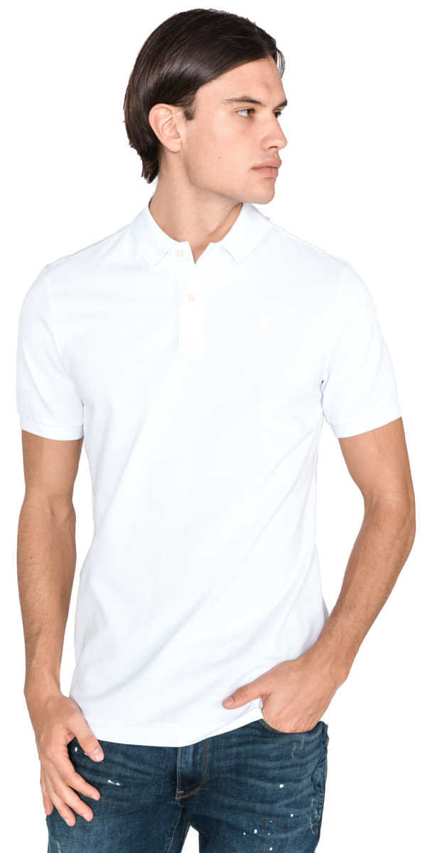 G-Star RAW Dunda Polo Shirt White UK - GOOFASH