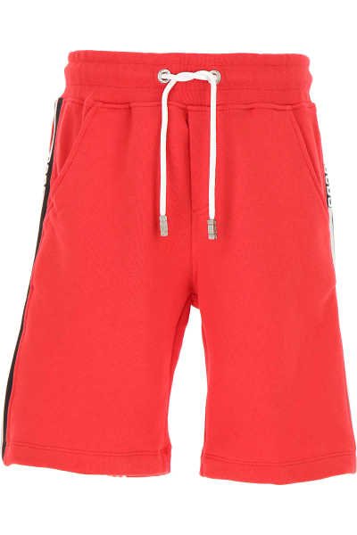 GCDS Kids Shorts for Boys On Sale Red SE - GOOFASH