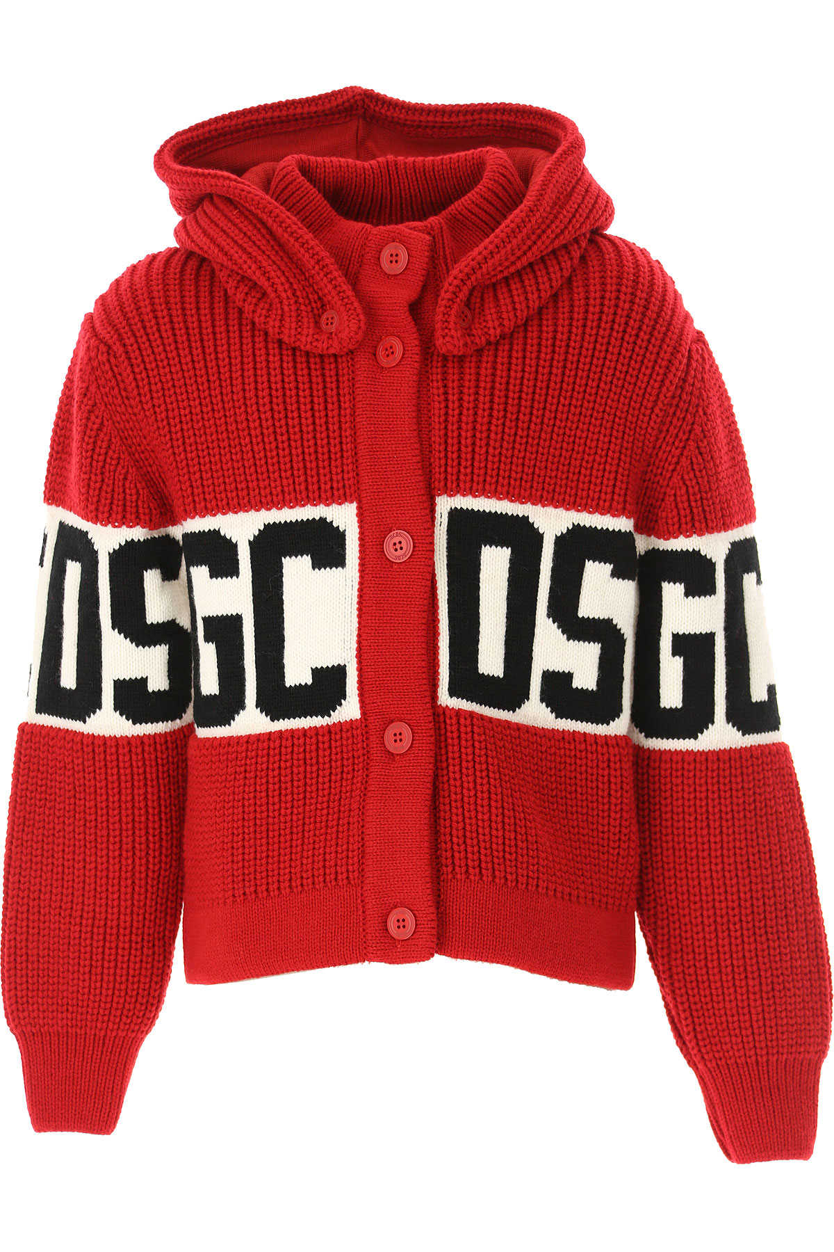 GCDS Kids Sweaters for Boys Red SE - GOOFASH