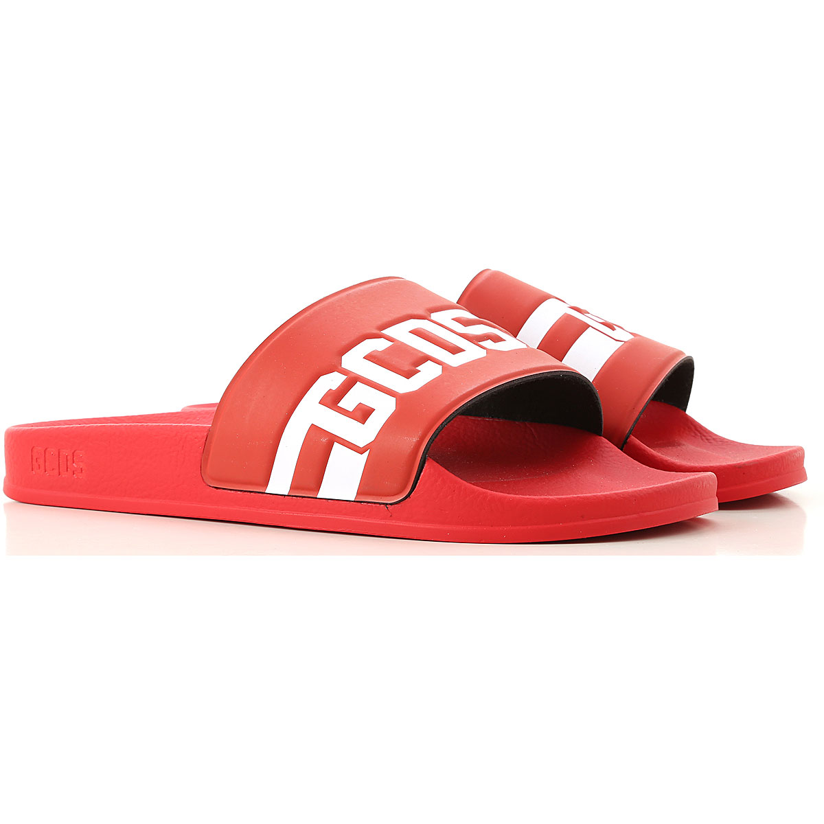 GCDS Sandals for Men Red USA - GOOFASH
