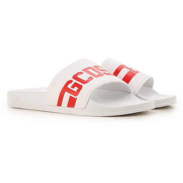 GCDS Sandals for Men White USA - GOOFASH